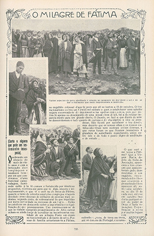 newspaper about the events at Fatima
