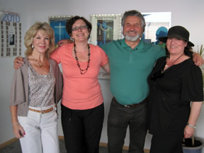 Nawas Tour Directors Gloria, Deborah and Esther with Paul Lindlbauer in Nawas' Oberammergau office