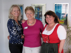 Nawas Tour Directors Jeanette and Esther with Nawas Oberammergau office manager Gaby Lindlbauer (center)