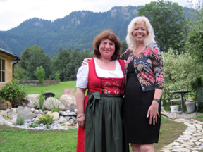 Nawas Tour Directors Esther and Jeanette in scenic Oberammergau