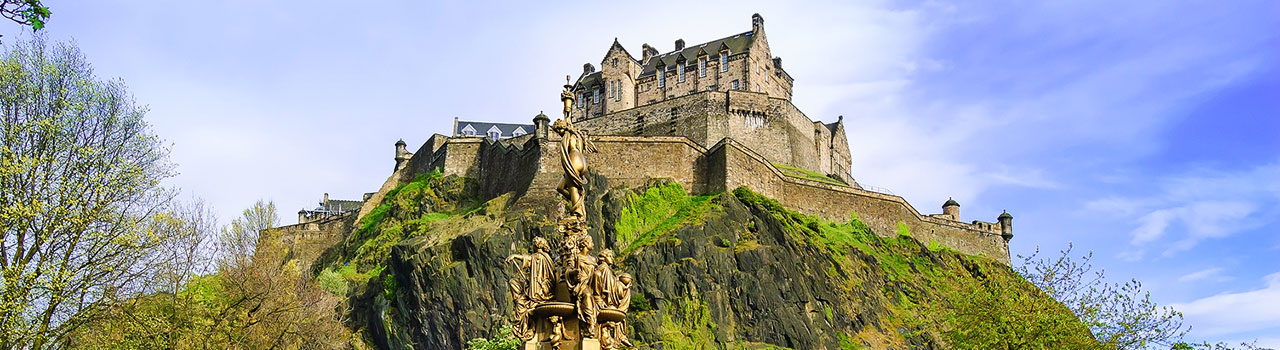 Edinburgh Castle is featured on Nawas England & Scotland programs