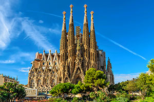 La Sagrada Familia in Barcelona is a highlight of Nawas' Spain pilgrimages