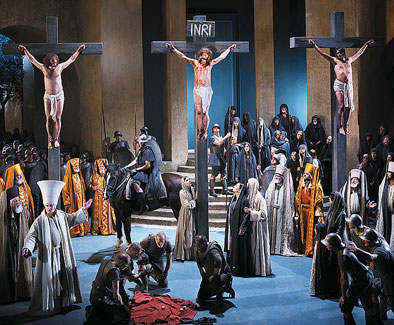 Jesus' crucifixion Passion Play of Oberammergau 2022