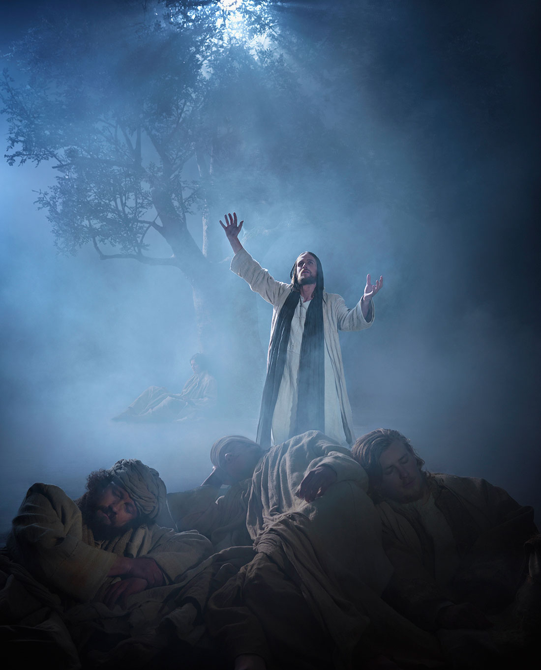 Jesus prays at Mount of Olives