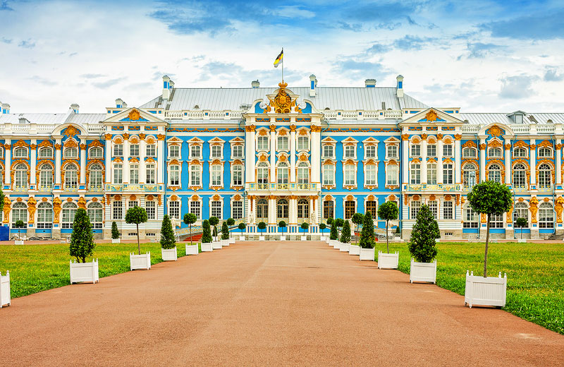 Catherine's Palace at Pushkin outside of St. Petersburg