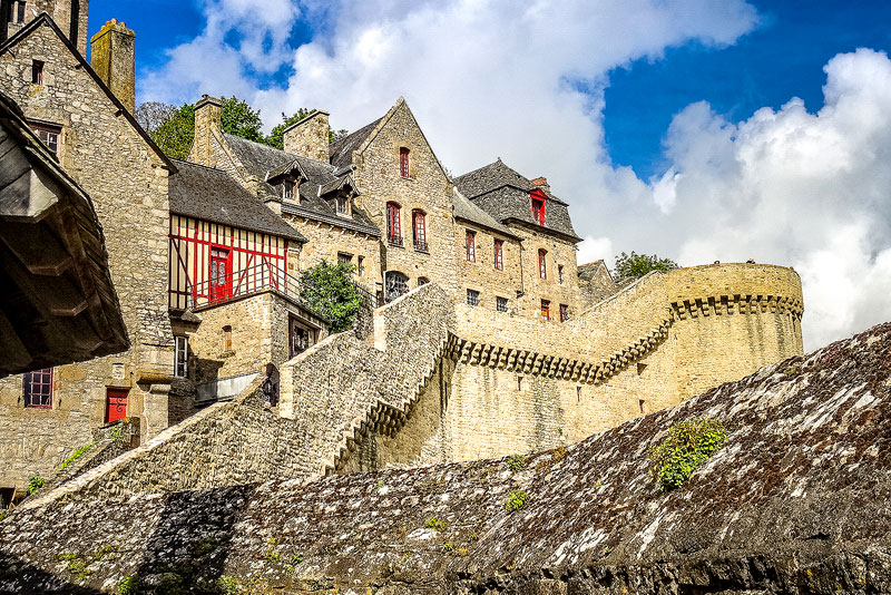 Mont Saint-Michel's wraparound walls and charming village