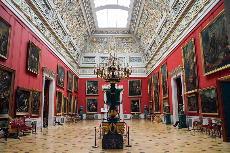 Ther Hermitage Museum in St. Petersburg