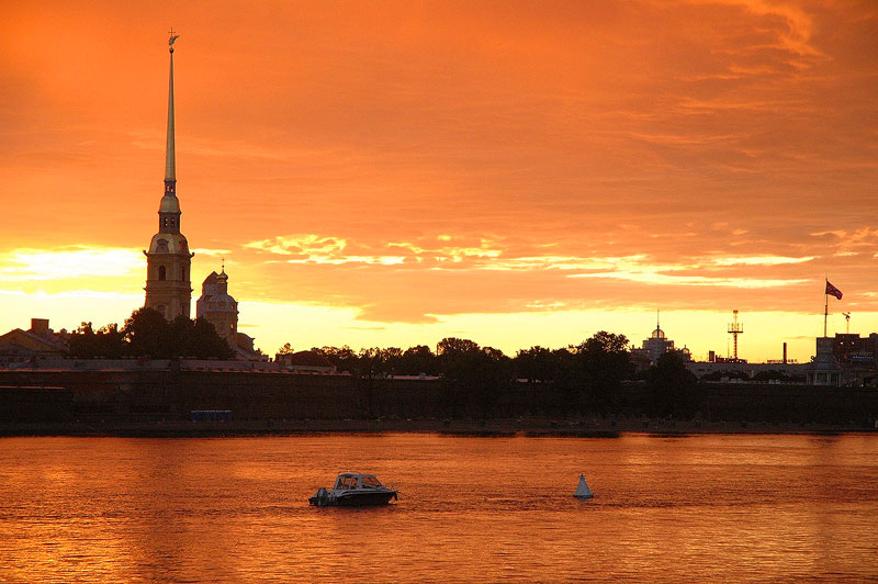 The cathedral at Peter and Paul Fortress in St. Petersburg