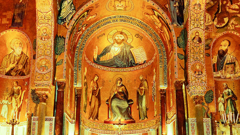 When visiting Sicily don't miss the stunning mosaics in the Monreale Cathedral