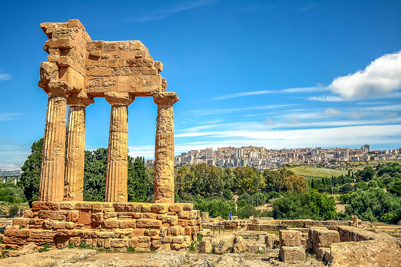 On a visit to Sicily, check out some of the Greek ruins including the Valley of Temples near Agrigento