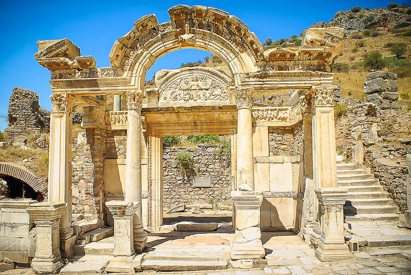 The Temple of Hadrian is another highlight of visiting Ancient Ephesus