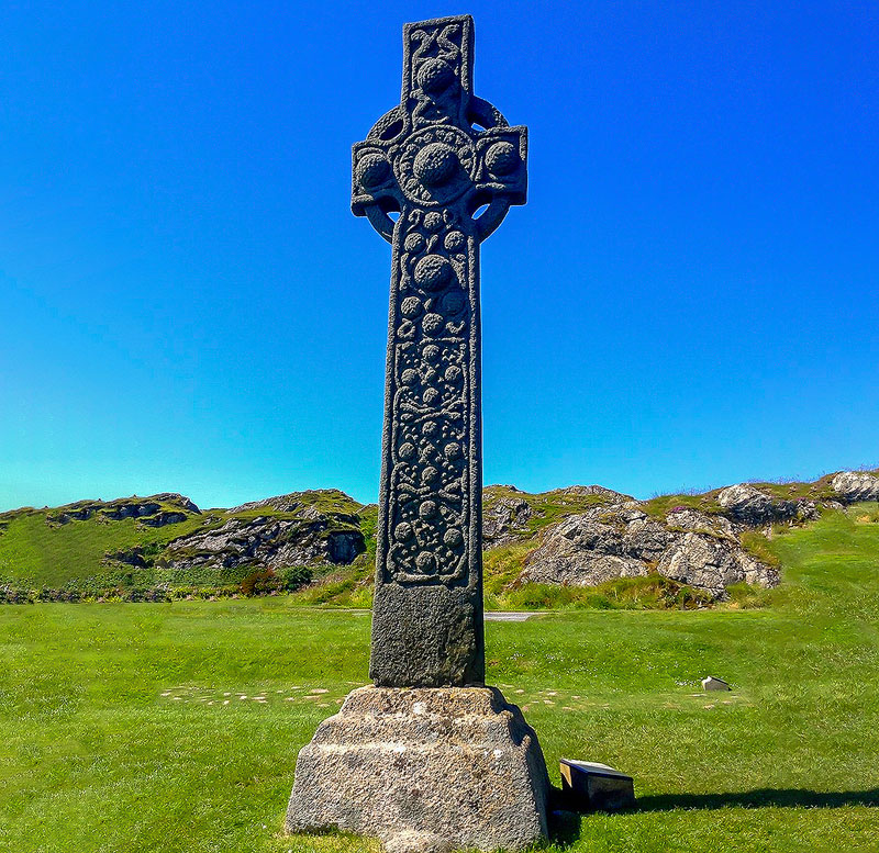 St. Martin's Cross still stands on the Isle of Iona