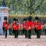 Soldiers march during the Changing the Guard Ceremony at Buckingham Palace in London