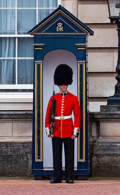 London Guard at his post at Buckingham Palace